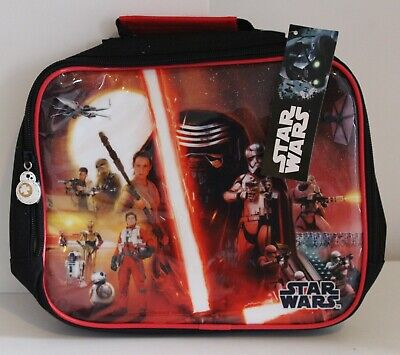 Character Kids Cushioned Lunch Bag Zip Fastening Star Wars Printed Carry Handle • 9.99£