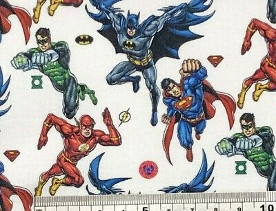 Superheros -Marvel Disney Cotton Fabric Fat Quarter/metre Patchwork,Craft, Masks • 4.50£