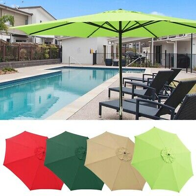 AU124.90 • Buy 4M Outdoor Cafe Umbrella Aluminum Garden Parasol Patio Sun Shade Canopy Cover