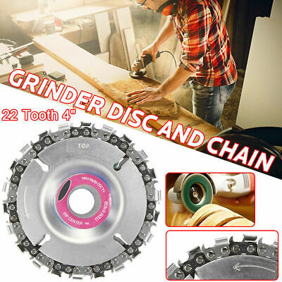 Grinder Disc 22Tooth 4'' Angle Chain Saw Blade Wood Plastic Carving Cutting Tool • 8.79£
