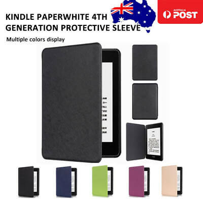 AU9.29 • Buy Kindle Paperwhite4 2018 10th Gen Leather Case Cover Anti-Scratch Auto Wake Sleep