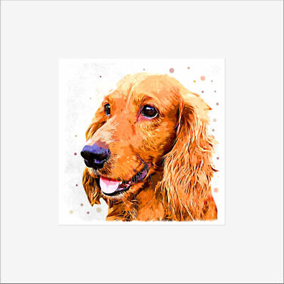 £3.50 • Buy Cocker Spaniel Dog Fine Art Greeting Card Birthday Occasions Personalised Card