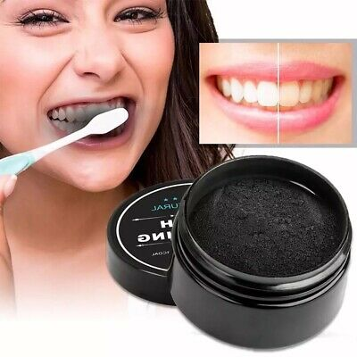 AU10.47 • Buy Coconut Charcoal Teeth Whitening Powder Black Dental Remove Stains Toothpaste