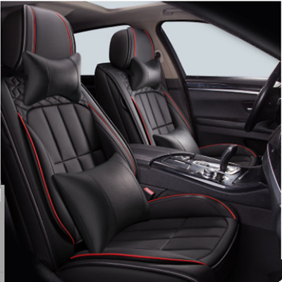 $ CDN172.56 • Buy Black Deluxe 5D Surround Seat Covers Full Set W/ Headrests Fit For 5-Seats Autos
