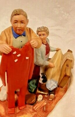 $ CDN69.99 • Buy Gorham Norman Rockwell Fall-Chilly Reception Figurine Four Season Tender Years