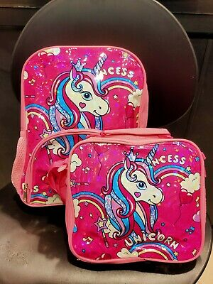 AU29.99 • Buy AU Seller! Unicorn Backpack+ Lunchbags Set  Lovely Students Shoulder School Bags