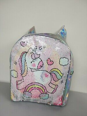 AU24.99 • Buy Double Side Sequin Backpack Unicorn Lovely Students Shoulder School Bags