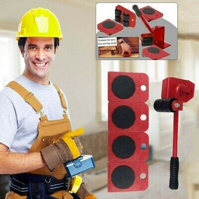 AU19.19 • Buy Heavy Furniture Moving System Lifter Kit With 4Pcs Slider Pad Roller Move Tool