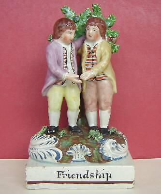 Staffordshire Pearlware Figure Friendship C1820 • 82£