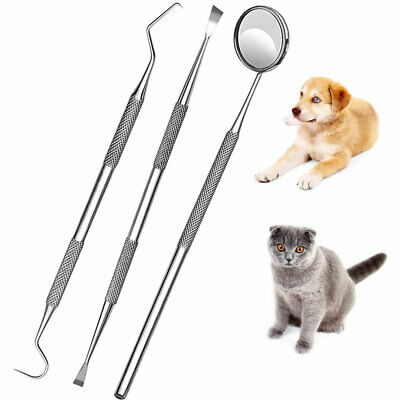 Dental Set For Dog Cat Teeth Whitening Plaque Remover Pet Oral Care Tools 3p Kit • 5.70£