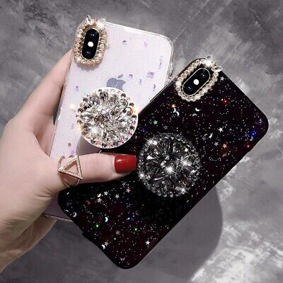 AU16.99 • Buy For IPhone 12 11 Pro Max XS XR 7 8 Bling Glitter Crystal Case Cover With Holder