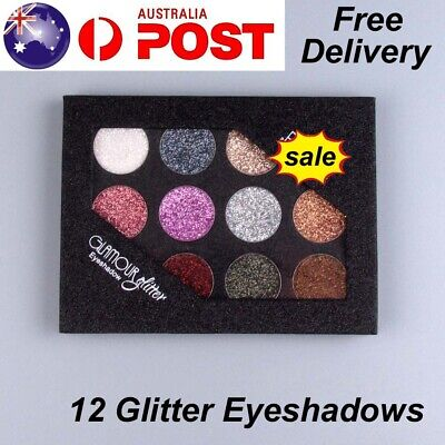 AU7.99 • Buy 12 Colors Glitter Eyeshadow Palette Shades Cosmetic Makeup Eye Shadow Gift