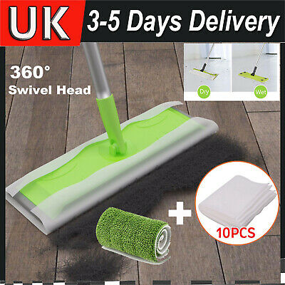 Static Cleaning Mop Sweeper Wet Or Dry Wipes Laminate Wood Tile Floor Cleaner • 8.69£