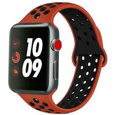 AU12.74 • Buy Silicone Sport Band Strap For Apple Watch Series SE 6 5 4 3 40mm 44mm 38mm 42mm