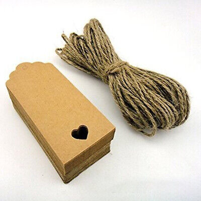 50 Kraft Paper Varied Sizes & Color Tags Label Card Gift FREE Twine Party UK • 3.94£