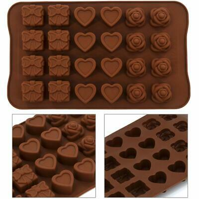 £3.69 • Buy Silicone Mould Cake Decorating Chocolate Baking Mold Wax Melts Ice Rose Hearts
