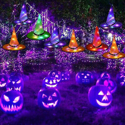 $ CDN5.23 • Buy Halloween Decorations Hanging Lighted Glowing Witch Hats Outdoor Lights Ornament