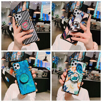 AU16.99 • Buy For IPhone 12 11 Pro Max XS XR 6 7 8 Marble Square Phone Case Cover With Holder