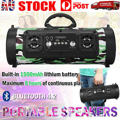 AU36.88 • Buy Portable Wireless Bluetooth Speakers Stereo Bass Outdoor USB/TF/ Radio Subwoofer
