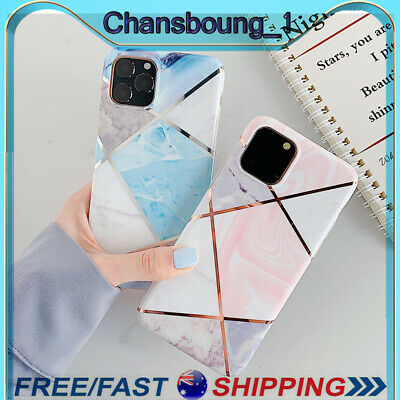 AU6.99 • Buy Slim Fit Plating Marble Case Cover For IPhone 11 Pro Max Xs XR 7 8 Plus SE 2020