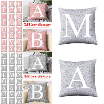 New LETTER POLYESTER CUSHION COVER PILLOW CASE WAIST THROW HOME SOFA DECOR UK • 2.49£