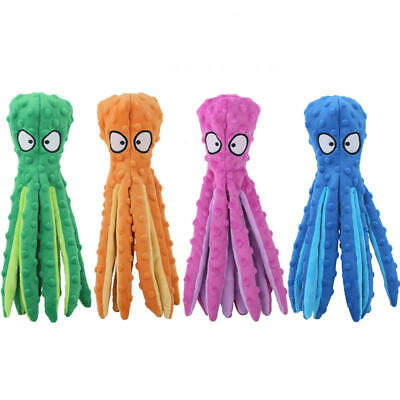 AU12.99 • Buy 8 Legs Octopus Soft Stuffed Plush Squeaky Dog Squeakers Toy Pet Sounder Toys