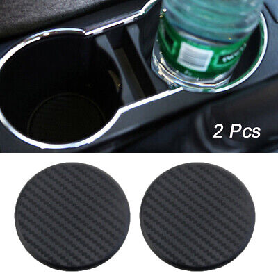 2X Car Vehicle Water Cups Slot Non-Slip Carbon Fiber Look Mat Accessories NEW • 3.35£