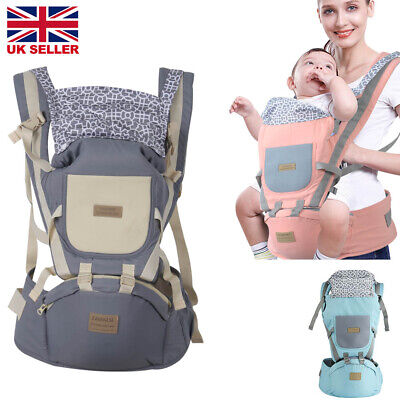 Adjustable Infant Baby Carrier Wrap Sling Hip Seat Newborn Backpack  Breathable • 12.09£