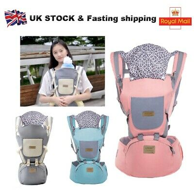 Ergonomic Infant Baby Carrier With Hip Seat Stool Adjustable Wrap Sling Backpack • 15.59£