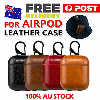 AU6.69 • Buy Leather Protective Tough Slim Cover Case For Apple AirPods 1 & 2 / Fast Delivery