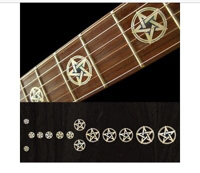 £13 • Buy Pentagram White Silver Guitar Fret Board Markers Inlay Stickers