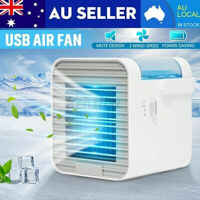 AU28.58 • Buy LED 3 Speed Home Car Office Desk USB Evaporative Water Air Cooler Fan Humidifie