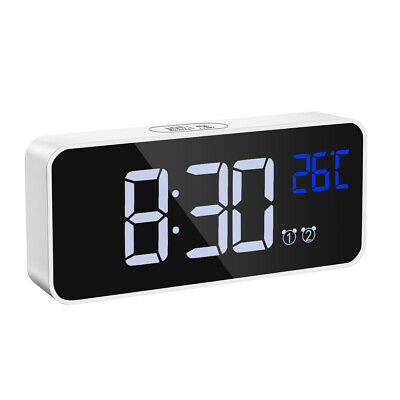 AU22.88 • Buy Alarm Clock Night Light Thermometer Digital LED LCD Display USB Battery Operated