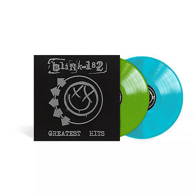Blink 182 Greatest Hits Exclusive Limited Edition Leaf Green Aqua Blue Vinyl LP • 37.62£