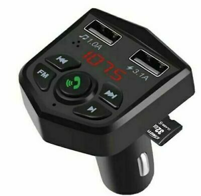 Car Charger Usb Bluetooth Car Kit MP3 Player Dual USB Charger Fast 24v Uk • 6.95£