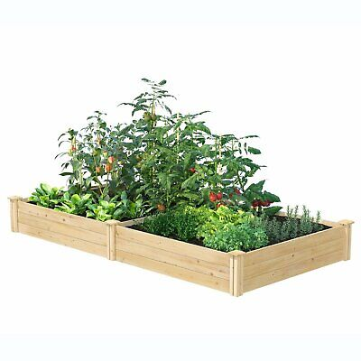 Cedar 4ft X 8ft X 10.5in Raised Garden Bed - Made In USA • 166.99£