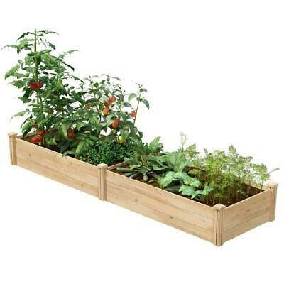 2 Ft X 8 Ft Cedar Wood Raised Garden Bed - Made In USA • 149.32£