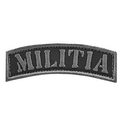 $6.45 • Buy Militia Shoulder Tab Subdued Embroidered American Revolution 3% 2A Patch
