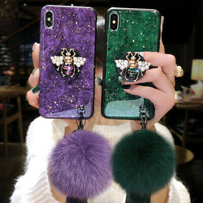 AU17.38 • Buy For IPhone 12 11 Pro Max XS XR 7 8 Glitter Marble Luxury Case With Phone Holder