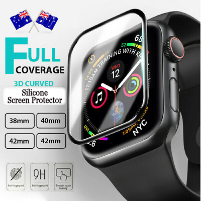 AU3.88 • Buy For Apple Watch IWatch 6 5 4 SE 44 &40 Mm Silicone FULL Screen Protector