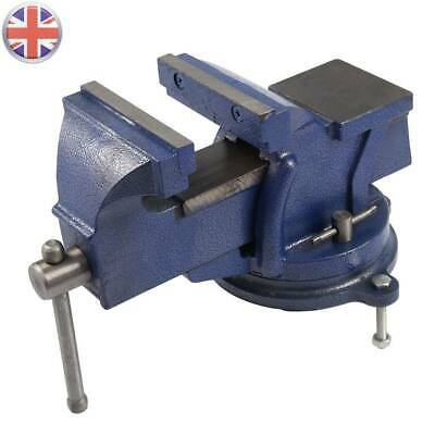 Heavy Duty 5  Work Bench Vice Vise Workshop Clamp Engineer Jaw Swivel Base Table • 21.79£