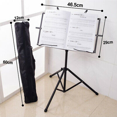 Heavy Duty Music Orchestral Stand Sheet Holder Folding Adjustable Tripod Base UK • 8.99£