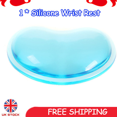 Crystals Gel Silicone Mouse Wrist Rest Support For Office Computer Laptop PC UK • 5.49£
