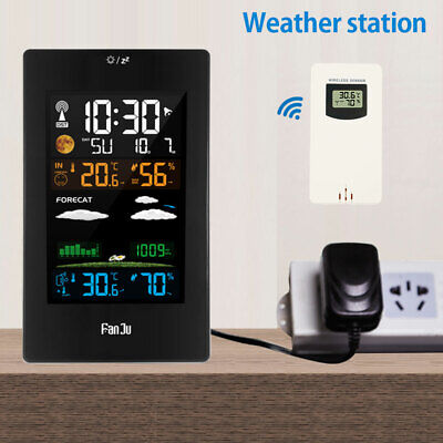 Wireless Weather Station Thermometer Barometer Humidity Indoor/Outdoor Sensor ❀ • 30.79£