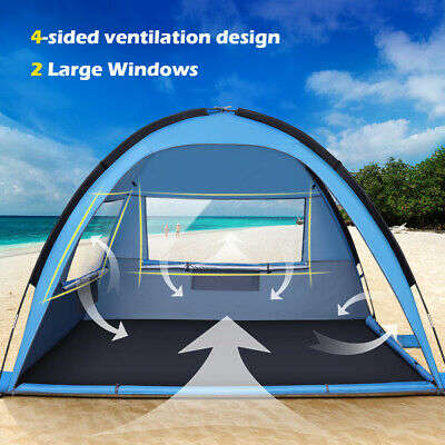 AU41.79 • Buy MOVTOTOP Waterproof Tent 3-4 Person Man Camping Dome Tent Hiking Shelter Beach