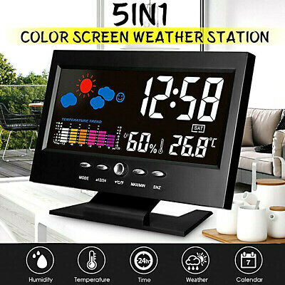 AU14.99 • Buy Projection LCD Display Digital Alarm Clock LED With Temperature Weather Station