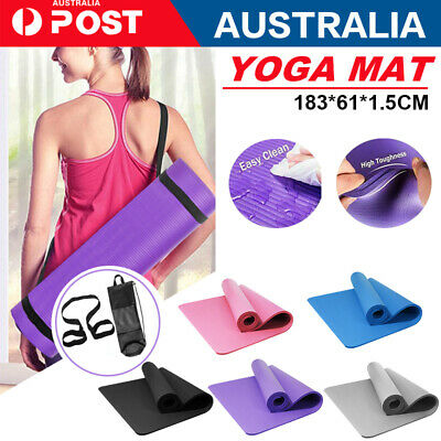 AU25.64 • Buy 10/15/20MM Thick Yoga Mat Pad NBR Nonslip Exercise Fitness Pilate Gym Durable