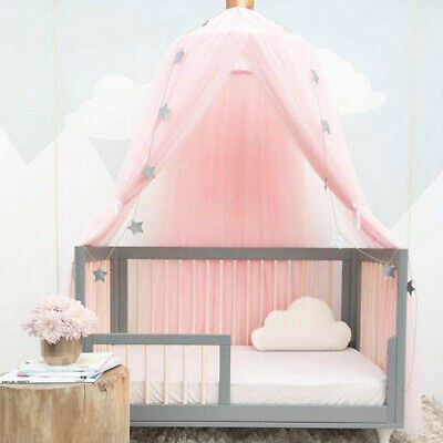 Kids Girls Bed Canopy Mosquito Net Bedcover Curtain Dome Tent Bedroom Netting • 20.98£