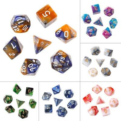 AU4.46 • Buy 7pcs/Set Acrylic Polyhedral Dice For TRPG Board Game Dungeons And Dragons D4-D20