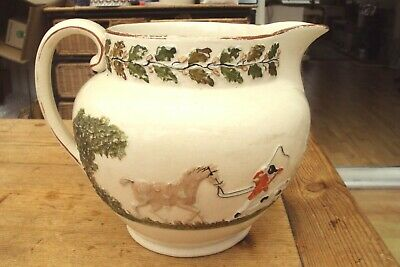 Early 19th Century Staffordshire Pearlware Hunting Scene Large Jug. • 19.99£